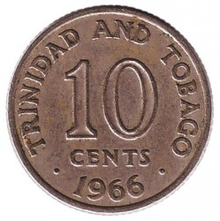 Monedă > 10cenți, 1966-1972 - Trinidad și Tobago  - reverse
