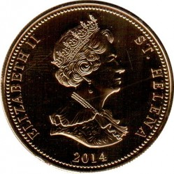 Mynt > 25 nye pence, 2014 - St. Helena  (The Four Generation of the Royal Family) - obverse