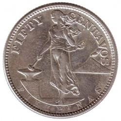 العملة > ٥٠سنتافو, 1907-1921 - الفلبين  - reverse