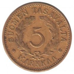 Münze > 5Mark, 1940 - Finnland  - reverse