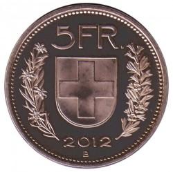 Moneta > 5franków, 2012 - Szwajcaria  - reverse