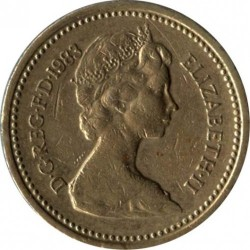 Moneda > 1 pound, 1983 - Regne Unit  - obverse