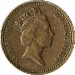 Munt > 1pound, 1996 - Verenigd Koninkrijk  - obverse