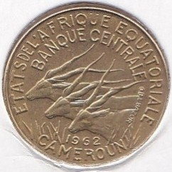 Кованица > 5франака, 1961-1962 - Екваторијалне Афричке Државе  - reverse