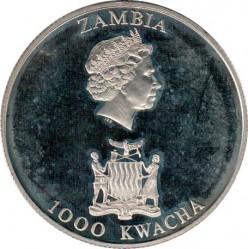 Moneda > 1000kwacha, 2003 - Zambia  (21 aniversario - Nacimiento del Príncipe Guillermo) - obverse