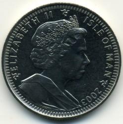 Moneda > 1corona, 2003 - Isla de Man  (50 aniversario - Coronación de Isabel II) - obverse