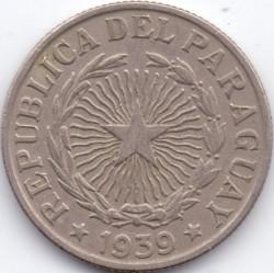 Moneta > 5pesai, 1939 - Paragvajus  - obverse