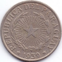 Монета > 10песо, 1939 - Парагвай  - obverse