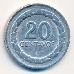 Moneta > 20centavos, 1945-1947 - Colombia  - reverse