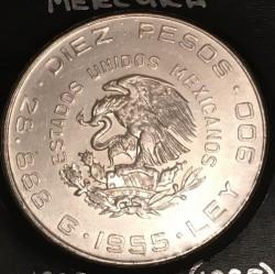 Münze > 10Pesos, 1955-1956 - Mexiko  - obverse