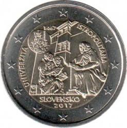 Moeda > 2euro, 2017 - Eslováquia  (550 Anos da Fundação da Universidade de Istropolitana) - obverse