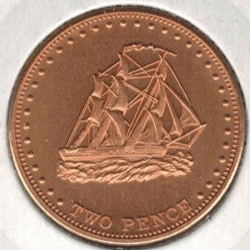 Moneta > 2pensy, 2008 - Tristan da Cunha  (HMS Julia (Wyspa Stoltenhoff)) - obverse