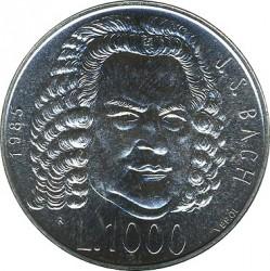Moneta > 1000lire, 1985 - San Marino  (European Music Year) - reverse