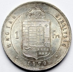 Moeda > 1florin, 1870-1879 - Hungria  - reverse