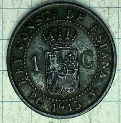 Moeda > 1cêntimo, 1911-1913 - Espanha  - reverse