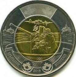 Moneda > 2dólares, 2016 - Canadá  (75 aniversario - Batalla del Atlàntico) - reverse