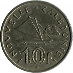 Монета > 10франков, 1972-2005 - Новая Каледония  - reverse