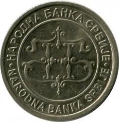Pièce > 10dinars, 2003 - Serbie  - obverse