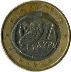Монета > 1евро, 2002-2006 - Греция  - obverse