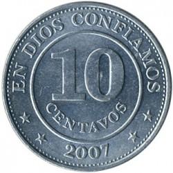 Монета > 10сентаво, 2007-2015 - Нікарагуа  - reverse