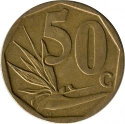 Монета > 50центов, 2009 - ЮАР  - reverse