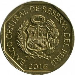 سکه > 10سنتیمو, 2016 - پرو  - obverse