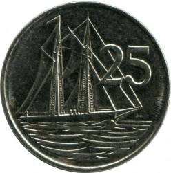 Coin > 25 cents, 1992-1996 - Cayman Islands  - obverse