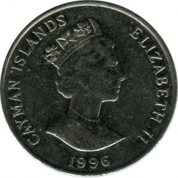 Coin > 25 cents, 1992-1996 - Cayman Islands  - reverse