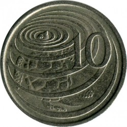 Coin > 10 cents, 1972-1986 - Cayman Islands  - obverse