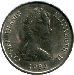 Coin > 10 cents, 1972-1986 - Cayman Islands  - reverse