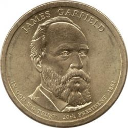Moneta > 1 doleris, 2011 - JAV  (President of the USA - James A. Garfield (1881)) - obverse