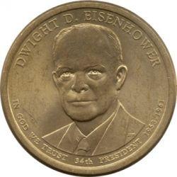 Pièce > 1dollar, 2015 - États-Unis d'Amérique  (Président des États-Unis - Dwight D. Eisenhower (1953-1961)) - obverse