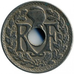מטבע > 5סנטים, 1920-1938 - צרפת  (New type: Hole at center) - reverse