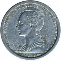 Coin > 1franc, 1948-1958 - Madagascar  - obverse