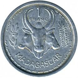 Coin > 1franc, 1948-1958 - Madagascar  - reverse