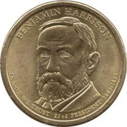 Moneta > 1dolar, 2012 - USA  (Prezydent USA - Benjamin Harrison (1889-1893)) - obverse