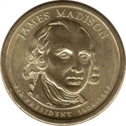 Münze > 1 Dollar, 2007 - USA  (President of the USA - James Madison (1809-1817)) - obverse