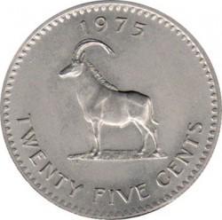 Кованица > 25центи, 1975 - Родезија  - reverse