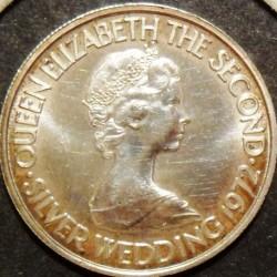 Moneta > 50pence, 1972 - Jersey  (25° Anniversario - Matrimonio della Regina Elisabetta II e del Principe Filippo) - obverse