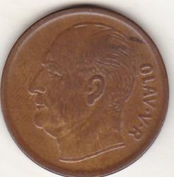 Mynt > 5ore, 1965 - Norge  - obverse