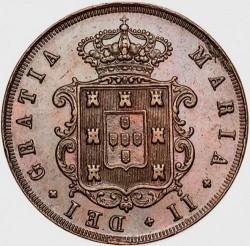 Монета > 20рейса, 1847-1853 - Португалия  - obverse