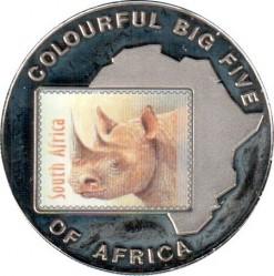 Moneta > 1000szylingów, 2001 - Uganda  (Wielka piątka w kolorze - Nosorożec) - reverse