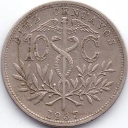 Münze > 10Centavos, 1935-1939 - Bolivien  - reverse