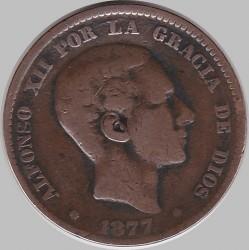 Moneta > 10centesimi, 1877-1879 - Spagna  - obverse