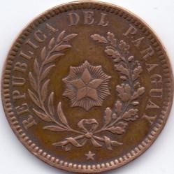 Coin > 2centésimos, 1870 - Paraguay  - obverse