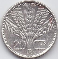 Moneda > 20centésimos, 1954 - Uruguai  - reverse
