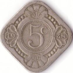 Монета > 5центов, 1948 - Кюрасао  - reverse
