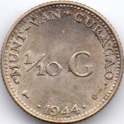Mynt > 1/10gulden, 1944-1947 - Curaçao  - reverse