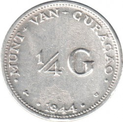Pièce > ¼gulden, 1944-1947 - Curaçao  - reverse