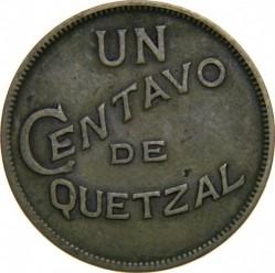 Монета > 1сентаво, 1932-1949 - Гватемала  - reverse